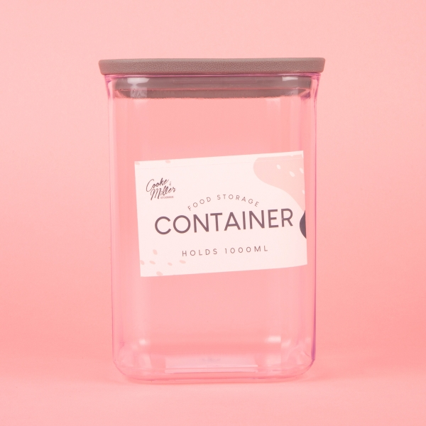**NEW** Food Storage Container 1L - Grey
