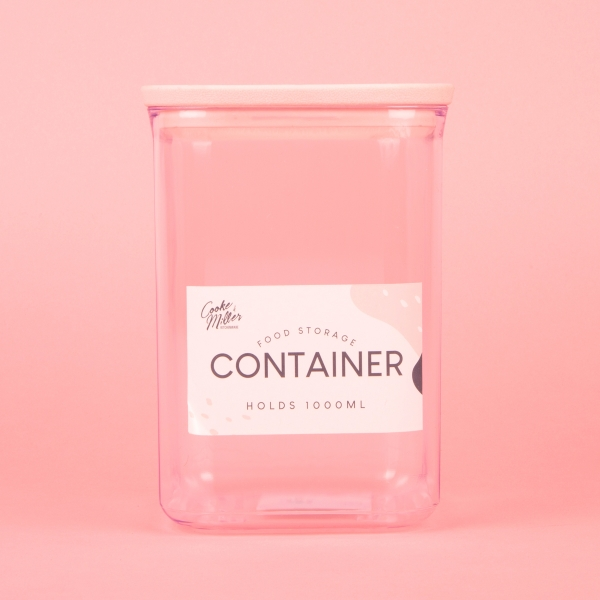 **NEW** Food Storage Container 1L - Pink