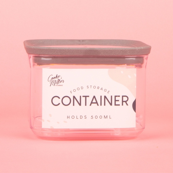 **NEW** Food Storage Container 500ml - Grey
