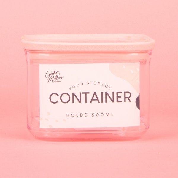 **NEW** Food Storage Container 500ml - Pink