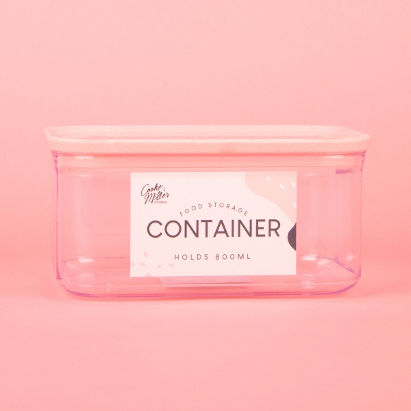**NEW** Food Storage Container 800ml - Pink
