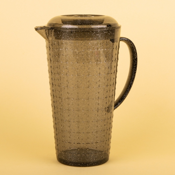 **NEW** Grey Glitter Pitcher with Lid 2L
