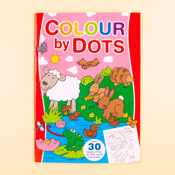 **NEW** Kids' Colour By Dots Colouring Book - Animals