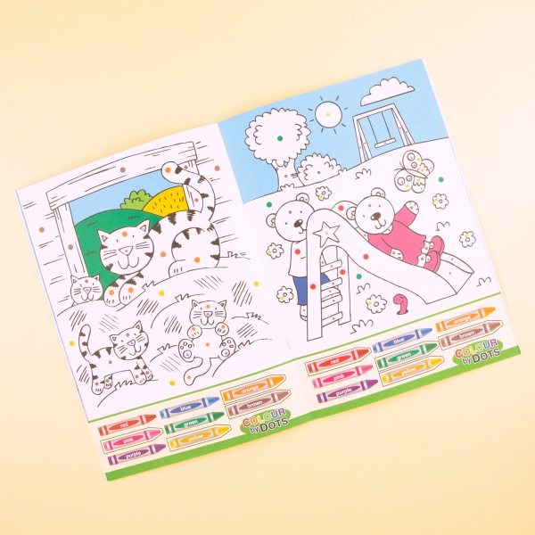 **NEW** Kids' Colour By Dots Colouring Book - Outdoor