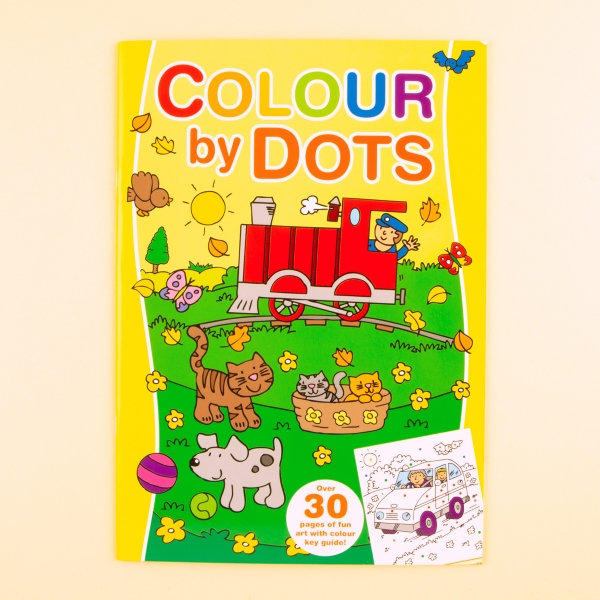 **NEW** Kids' Colour By Dots Colouring Book - Train