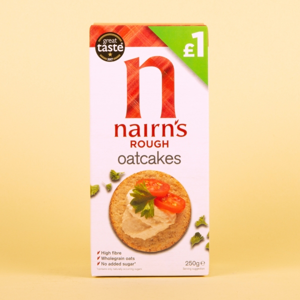 **NEW** Nairns Rough Oatcakes 250g
