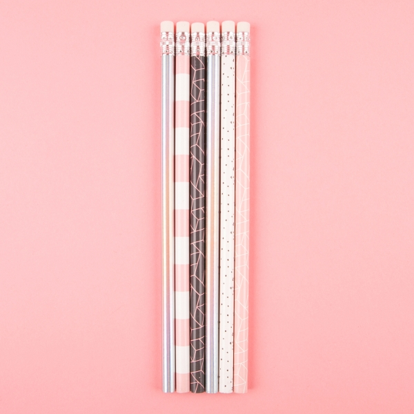**NEW** Patterned Eraser Topped Pencils 6pk