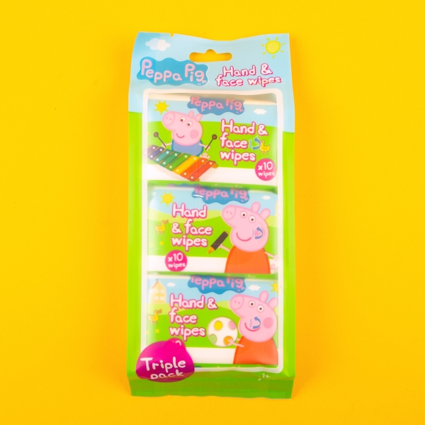 **NEW** Peppa Pig Hand & Face Pocket Wipes 3pk