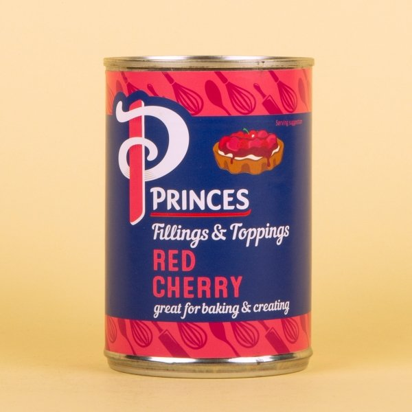 **NEW** Princes Tinned Red Cherry Fruit Filling 410g