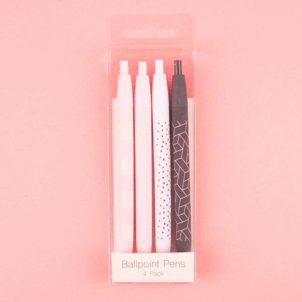 **NEW** Trendy Rollerball Writing Pens 4pk