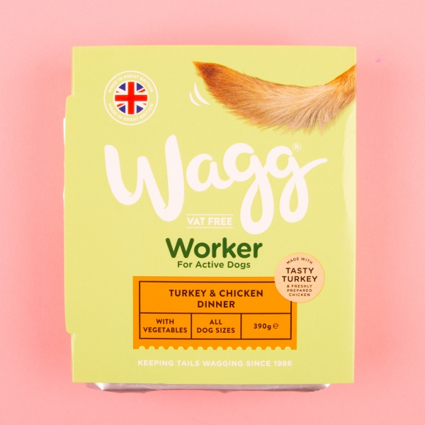 **NEW** Wagg Turkey & Chicken Dog Dinner 390g