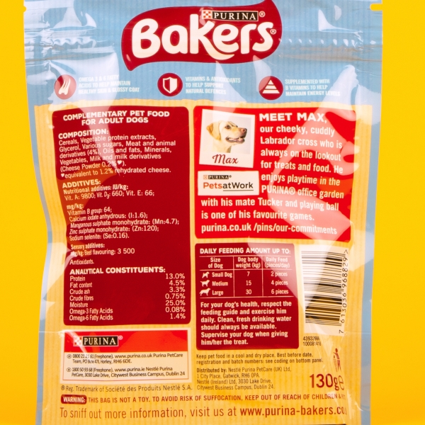 Bakers Whirlers Dog Treats 130g