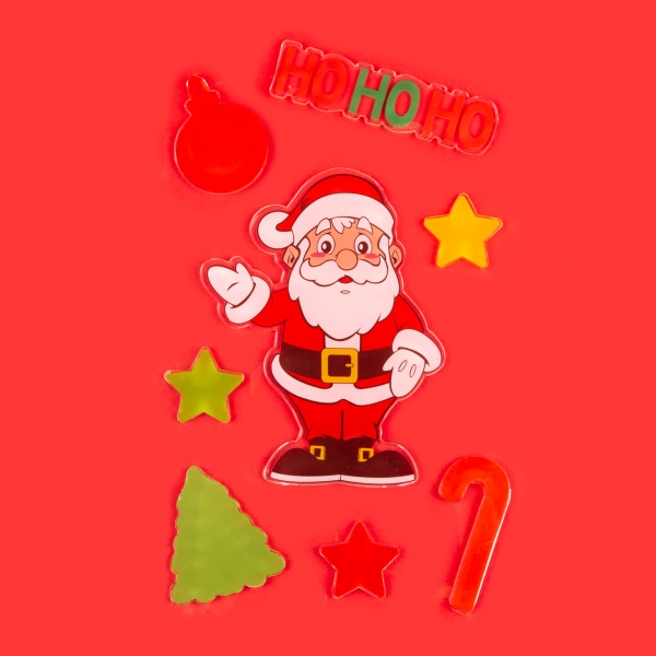 **NEW** Christmas Gel Window Stickers - Ho Ho Ho