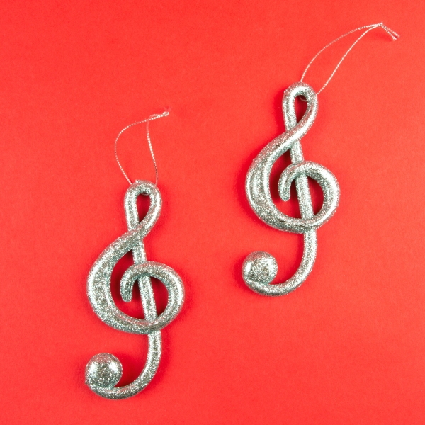 **NEW** Christmas Musical Note Decorations - Treble Clef