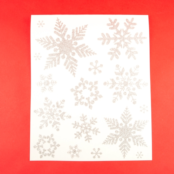 **NEW** Christmas Silver Snowflake Window Stickers - Design 1