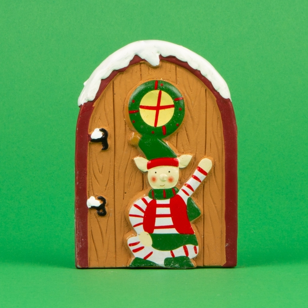 **NEW** Christmas Tiny Secret Door Decoration - Elf Brown Door