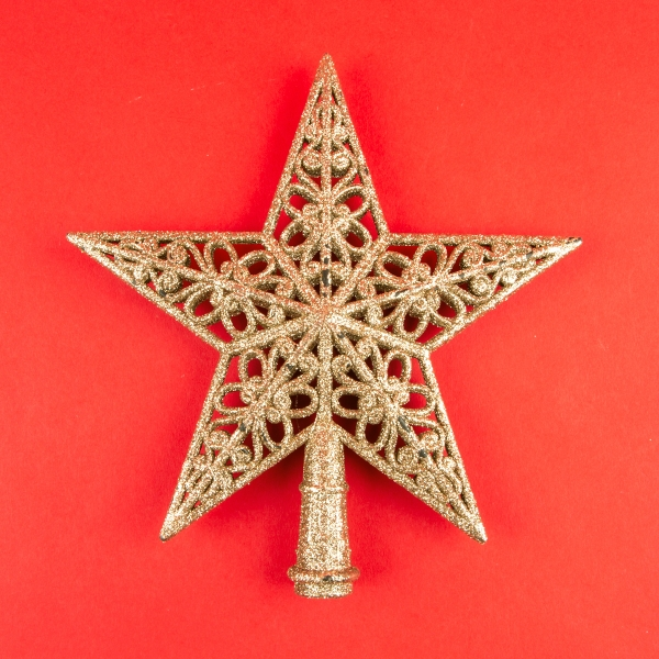 **NEW** Christmas Tree Top Star - Rose Gold