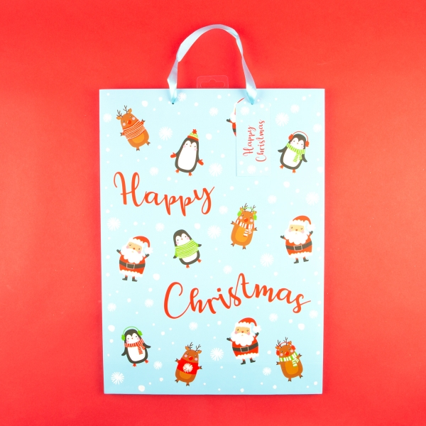 **NEW** Cute Christmas Gift Bag with Name Tag - Extra Large