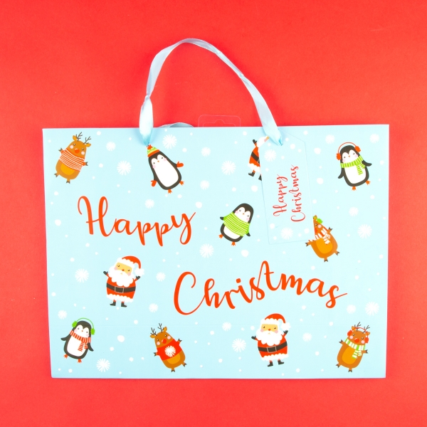 **NEW** Cute Christmas Gift Bag with Name Tag - Large