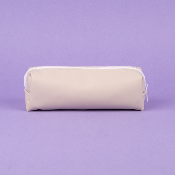 **NEW** Faux Leather Pencil Case - Grey