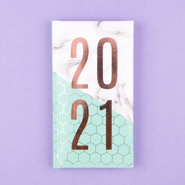 **NEW** Funky Patterned Pocket Diary 2021 - Marble