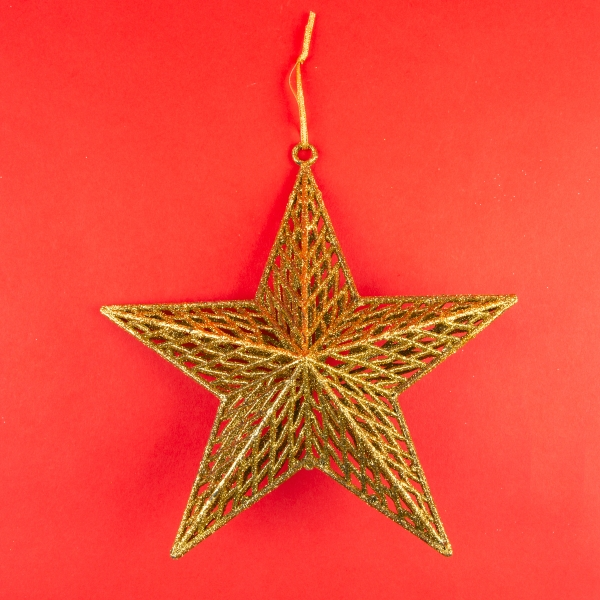 **NEW** Hanging 3D Star Christmas Decoration - Gold