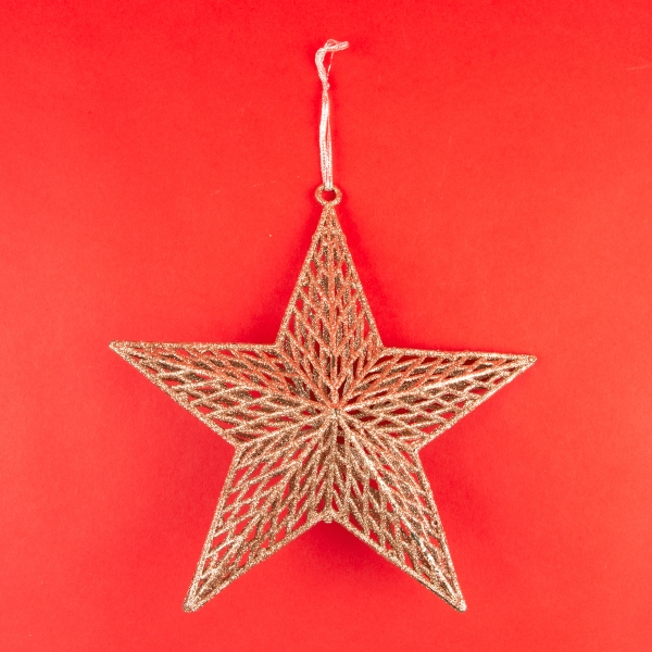 **NEW** Hanging 3D Star Christmas Decoration - Rose Gold