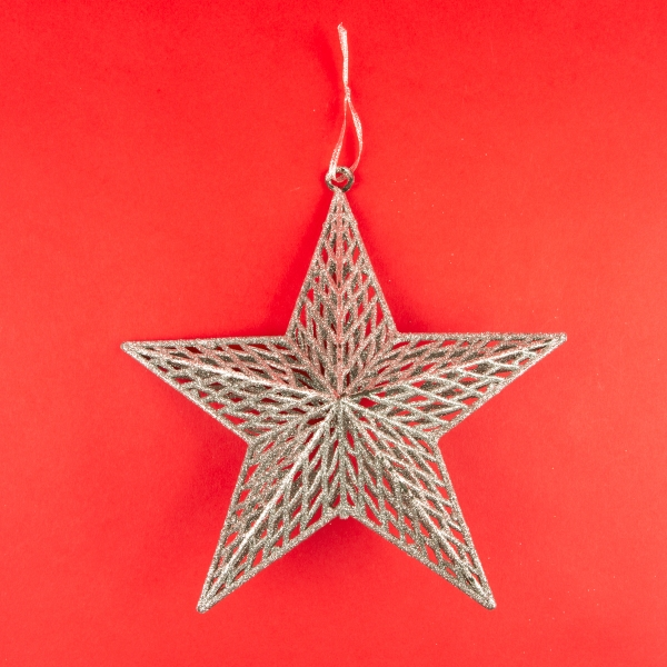 **NEW** Hanging 3D Star Christmas Decoration - Silver