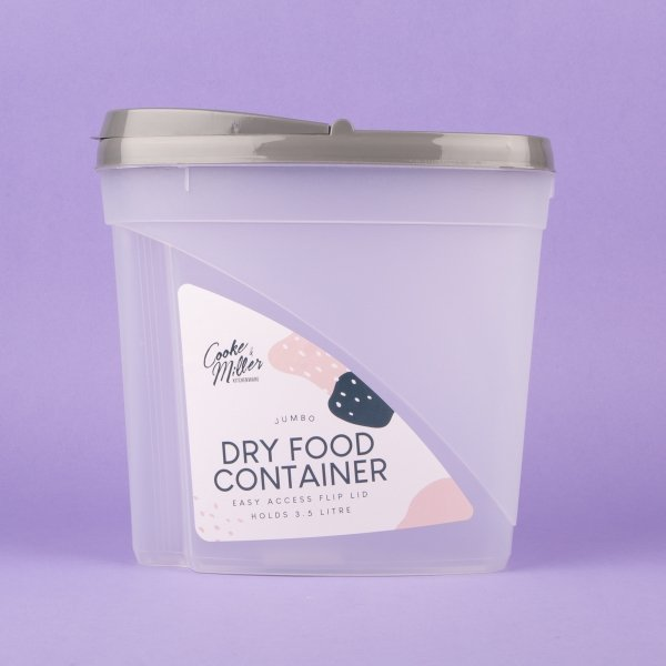 **NEW** Jumbo Dry Food & Cereal Container 3.5L - Grey