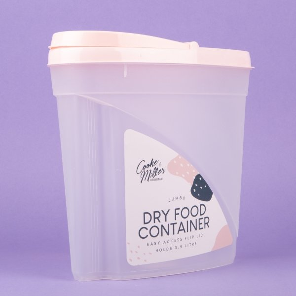 **NEW** Jumbo Dry Food & Cereal Container 3.5L - Pink