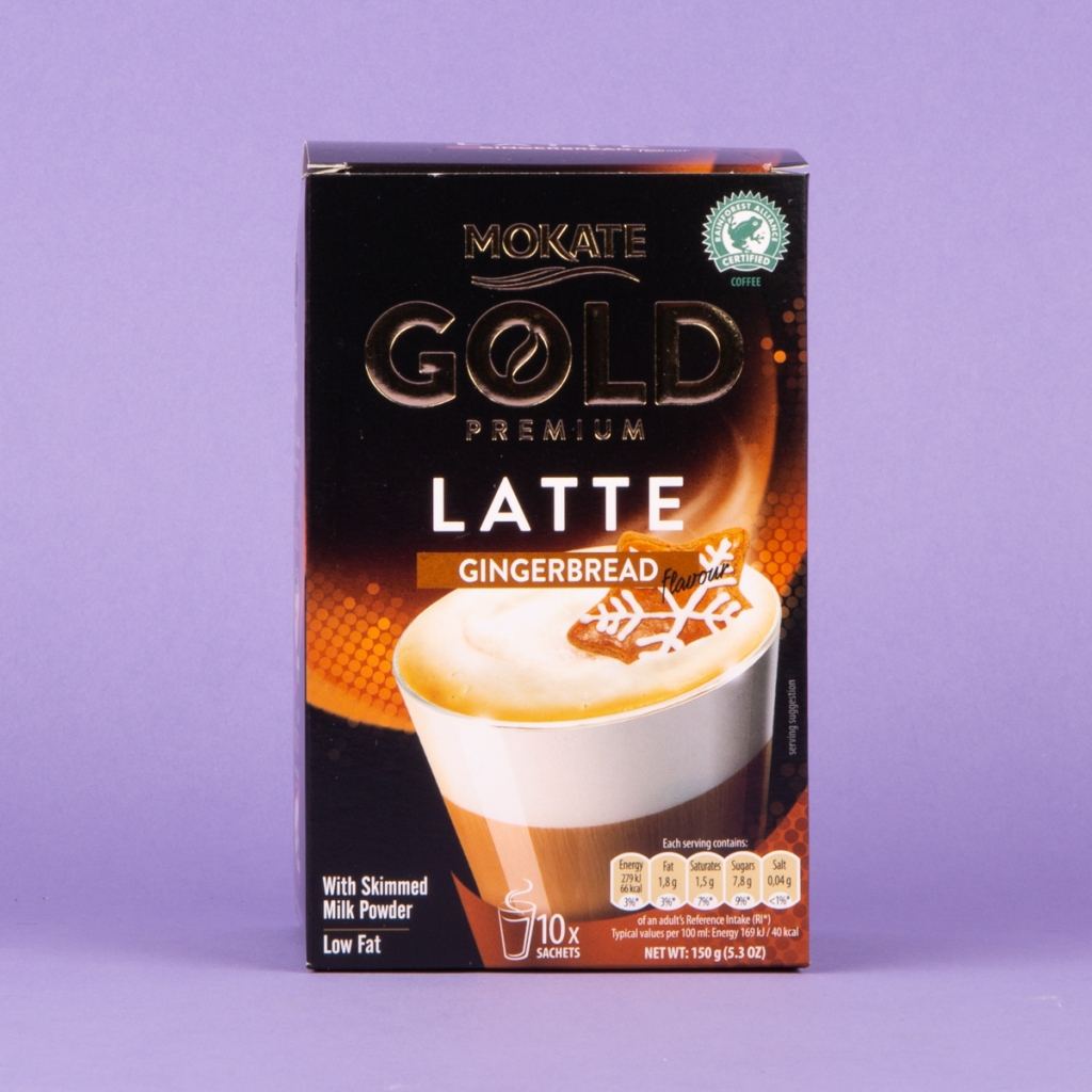 **NEW** Mokate Gold Instant Coffee 10pk - Gingerbread Latte