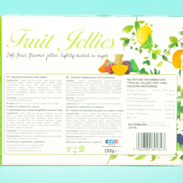 **NEW** Pimlico Confectioners Fruit Jellies Gift Set 200g