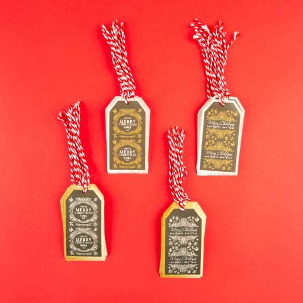 **NEW** Printed Christmas Gift Tags with String