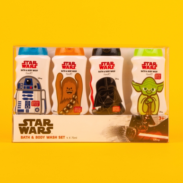 **NEW** Star Wars Kids' Bath & Body Wash Set 4pk