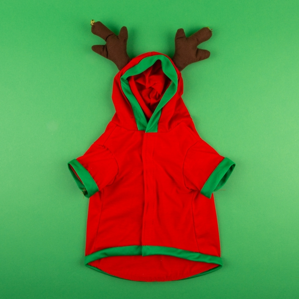 Rudolph's Substitute Dog Christmas Costume - S