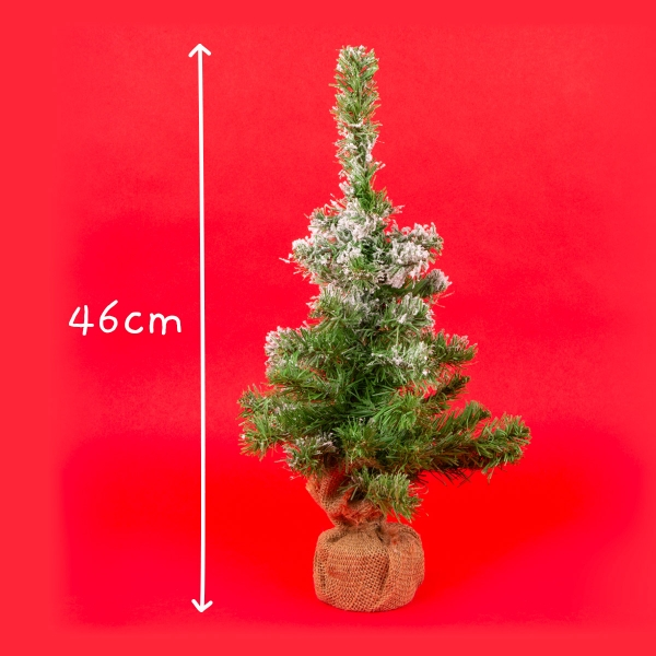 Rustic Snow-Tipped Christmas Tree 1.5ft