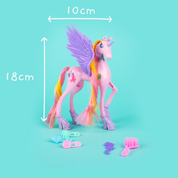 Unicorn Toy with Wings and Accessories - Pink