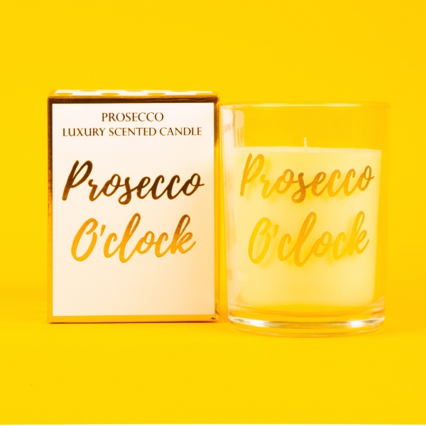 **NEW** Candlelight Scented Box Candle 22g - Prosecco O'Clock