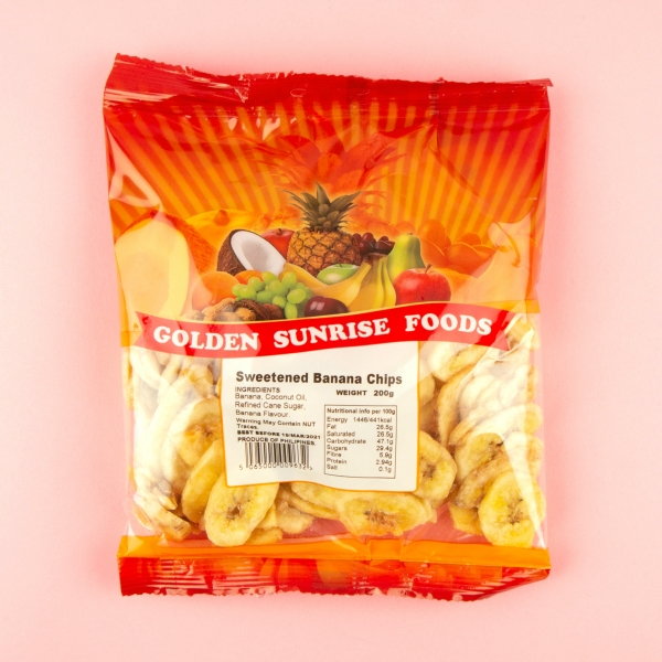 **NEW** Golden Sunrise Banana Chips 200g