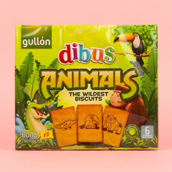 **NEW** Gullon Dubis Animal Biscuits 600g