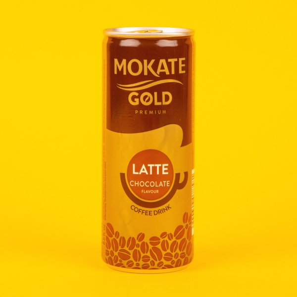 **NEW** Mokate Gold Iced Coffee Can 250ml - Latte Chocolate