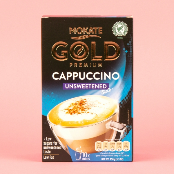 **NEW** Mokate Gold Instant Coffee 10pk - Unsweetened Cappuccino