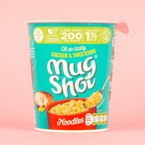 **NEW** Mug Shot Chicken & Sweetcorn Instant Noodle Cup 54g