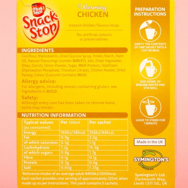 **NEW** Mug Shot Snack Stop Chicken Cup Soup 66g