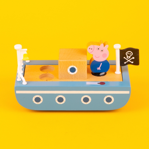 **NEW** Peppa Pig Wooden Boat Toy