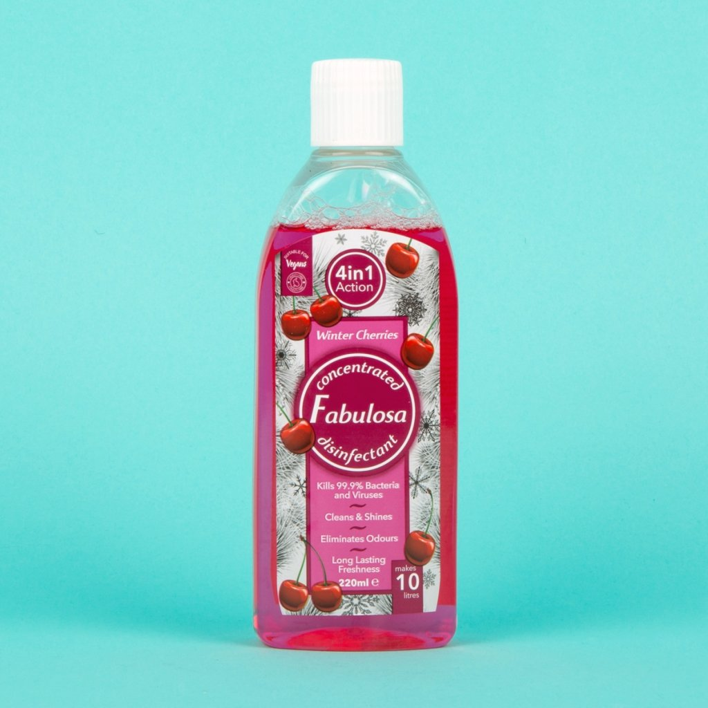 Fabulosa concentrated disinfectant 220ml in winter cherries scent