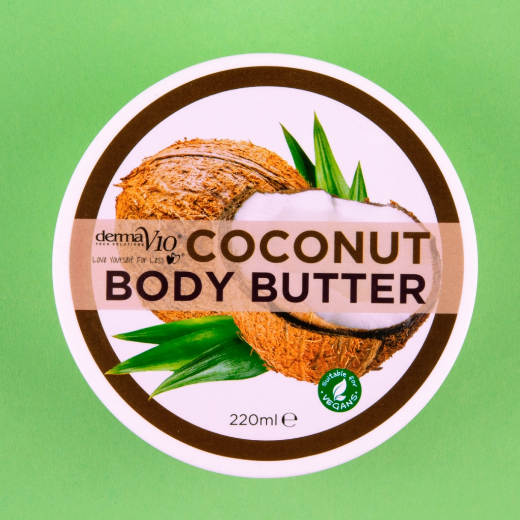 coconut body butter tub