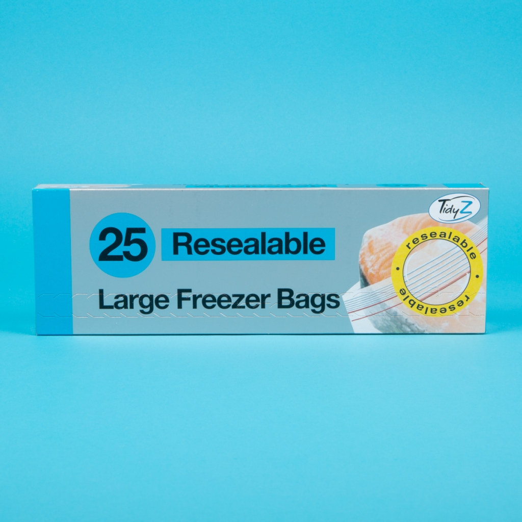 pack of 25 resealable freezer bags