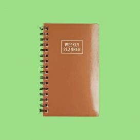rose gold weekly planner
