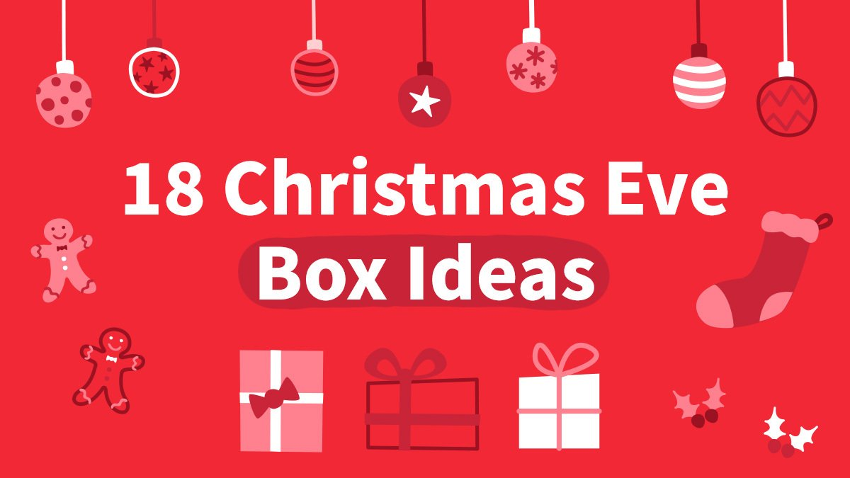 christmas graphics on red background